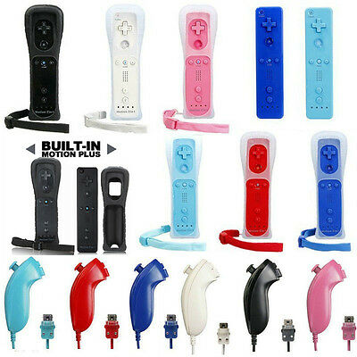 Wireless Remote Nunchuck Controller Case Motion Plus For Nintendo Wii & wii u
