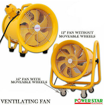 New Atex Portable Ventilator Axial Fan Ducting Blower Metal Extractor Industrial
