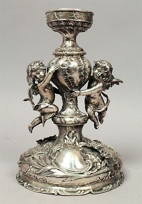 Superb Antique Austria Hungary Vienna 800 Silver Figural Cherub Centerpiece Base