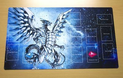 F2063+ Free Mat Bag Blue-Eyes Chaos MAX Dragon Yugioh TCG Playmat With Zones