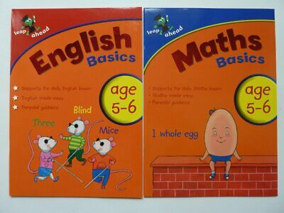 New Letts Home Learning English Maths Educational Workbooks Kids Ages 5-6 Year 1