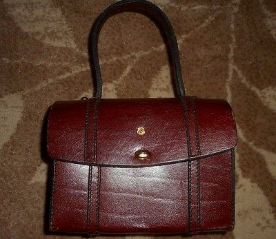 Vintage Marcolino By John Romain Brown Leather Handbag Purse