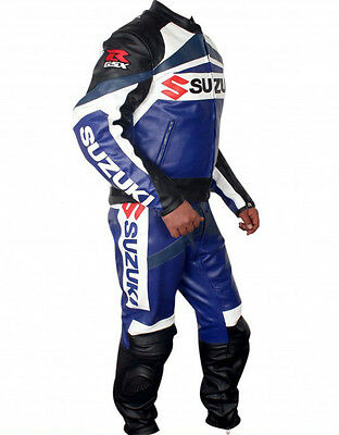 Suzuki GSXR Motorcycle Leather Suit MotoGp Sports Motorbike Jacket Pant Armors