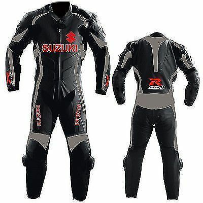 Suzuki GSXR Motorcycle Leather Suit MotoGp Sports Motorbike Cowhide Leather Suit