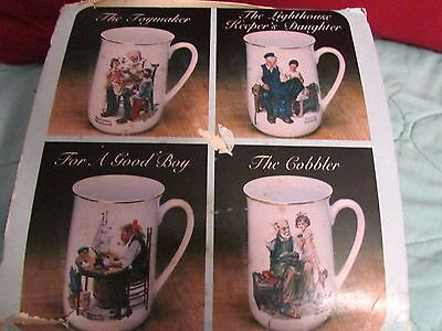Boxed Set Of Norman Rockwell Mugs
