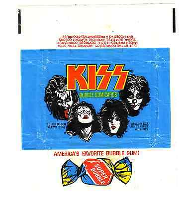 KISS  SERIES # 1 BLUE GUM CARD WRAPPER in Great Condition    K I S S