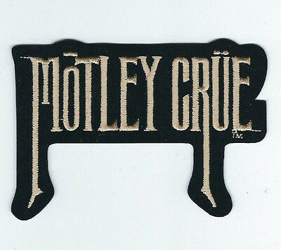 Motley Crue Gold Logo Embroidered Patch !