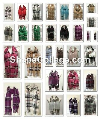 Wholesale 23Pcs $4.00 Each 100% Cashmere Scarf Made In Scotland Plaid Design