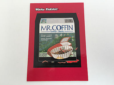 2004 USA Wacky Packages ALL NEW SERIES 1 PROMO Card Mr Coffin - ANS - 1 of 3