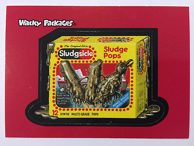 2004 USA Wacky Packages ALL NEW SERIES 1 PROMO Card Sludgesicle - ANS - 2 of 3