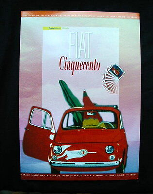 2007 Italy FIAT 500 auto car official folder card stamps cover FDC