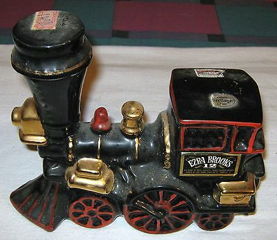 Ezra Brooks Liquor Whiskey Train Locomotive Decanter Bottle Empty Beam