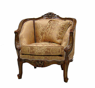 Hand carved  18th Century Repica French Provincial style living room chair