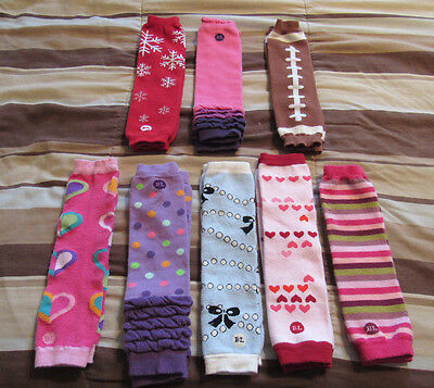 BABY LEGS Brand Leg Warmers Infant Toddler Lot of 8 Pairs!! Multi-colored