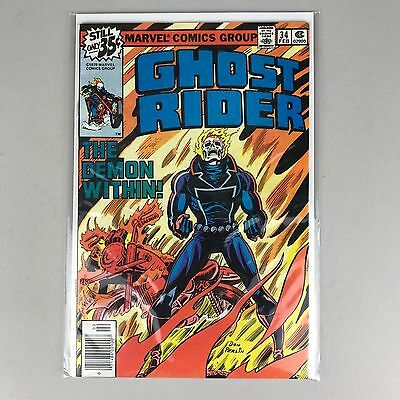 Ghost Rider #34 NM- 9.2 Marvel 1979 Blaze vs Nathan Beame cameo Prof X & Cyclops