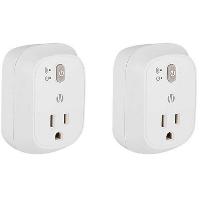 Vivitar 2-Pack WiFi Smartplug Home Automation for Android & iOS (White)HA1002