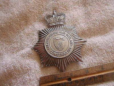 Vintage British Badge Leicestershire and Rutland  Constabulary
