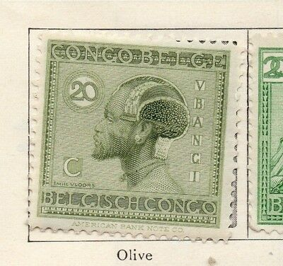 Belgian Congo 1926-27 Early Issue Fine Mint Hinged 20c. 182801