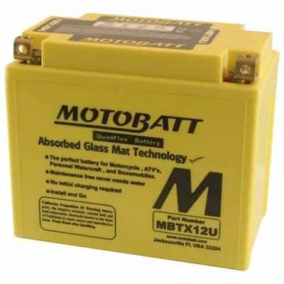 Motobatt Battery For Honda TRX500FA Fourtrax Rubicon 500cc 01-11