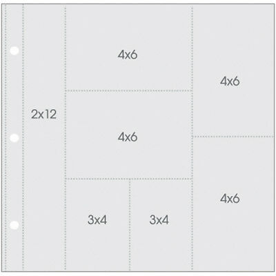 """Sn@p! Pocket Pages For 12X12""""Binders 10/Pkg(1) 2X12""""(4) 4X6""""(2) 3X4""""Pockets"""