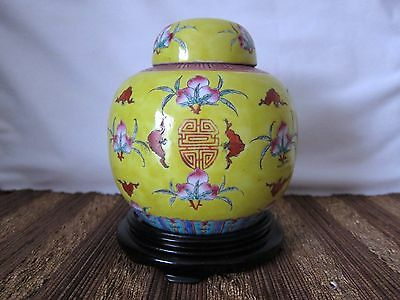 Rare Fine Antique Chinese Porcelain Famille Rose Covered Jar , Marked,19/20th C