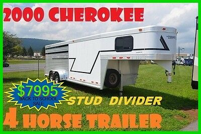 2000 CHEROKEE 4 HORSE with STUD DIVIDER & TACK ROOM