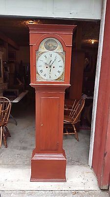 Antique American Tall Case / Grandfather Clock c. 1835