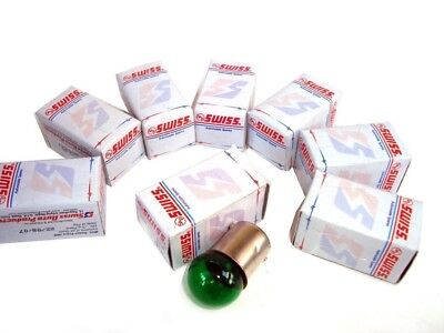 H4 12v-10w Set Green Color Indicator Bulb For Many Bikes Models (8 Pieces)