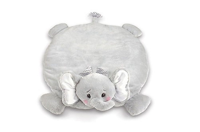 Bearington Lil' Spout Stuffed Animal Elephant Baby Mat, Belly Blanket, Tummy Tim