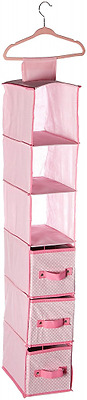 Delta Children Nursery Storage Set, Pink, 48 Piece
