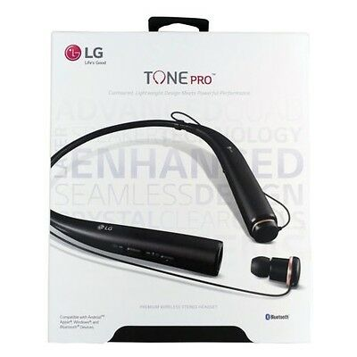 LG HBS-780 Tone PRO Bluetooth Wireless Stereo Headset Superior Sound - BLACK