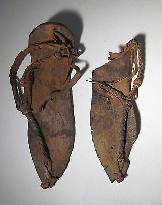 Ancient Egyptian Coptic Child's Pair of Sandals, 3rd − 6th Century AD