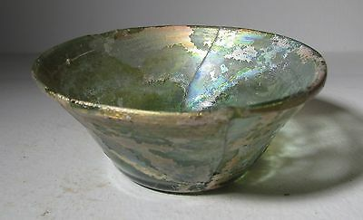 Roman Glass Bowl with flat base,  1st to 3rd Century AD