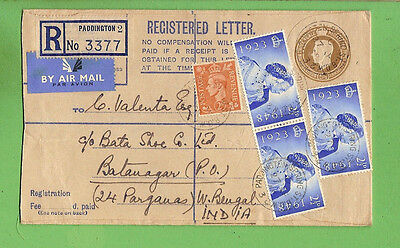 #d314. 1948 Registered   Envelope  - London To India