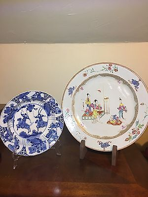 chinese antique kangxi and Qianlong  plates(two together)