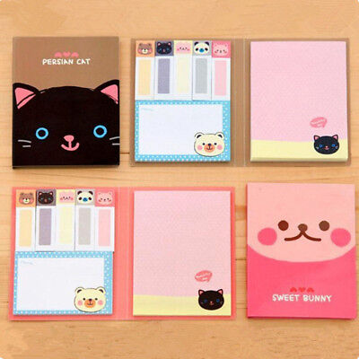 1× Portable Cute Cartoon Notepad Memo Diary Notebook Kraft Paper Exercise Book