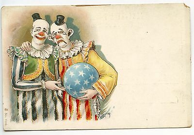 Roick .  Clown . Cirque Circus .carte Avant 1900
