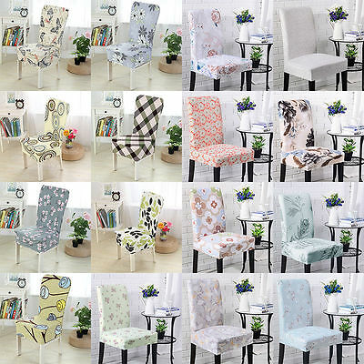 Removable Soft Elastic Stretch Slipcovers Dining Room Wedding Chair Seat Cover