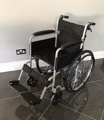 Ultra Lightweight Luxury ALUMINIUM Folding Wheelchair Self-Propelled Chair