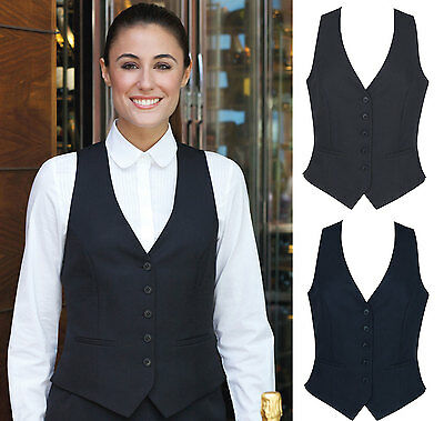 Brook Taverner Ladies Womens Waistcoat Fashion Vest 5 Button Front
