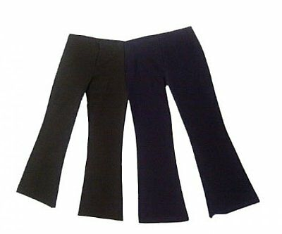 NEW Girls School Kick flair Trousers Stretchy 7 8 9 10 11 12 13 14 15 16 Ladies