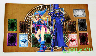 F2066n Free Mat Bag Yugioh Dark Magician Dark Magician Girl TCG Playmat New