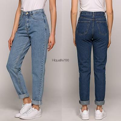 Jeans Womens High Waisted Boyfriend Style Vintage 25 26 27 28 29