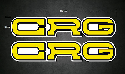 CRG Stickers/Decals - 2 x 200mm x 38mm - Printed & Laminated - Karting - Go-Kart