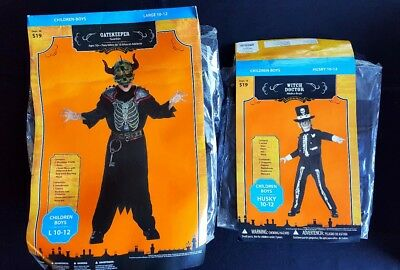 Lot Of 2 Kids Boys Girls Halloween Costumes Gatekeeper Witch Doctor Large 10-12