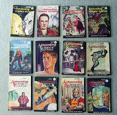 Astounding Science-Fiction UK Pulp full year 1960 12 issues rare lot