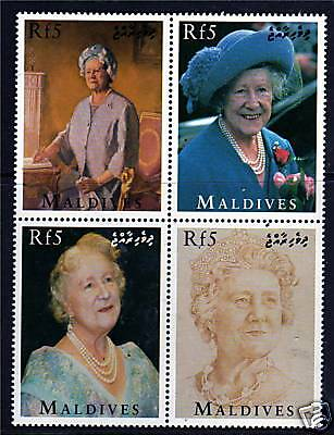 Maldive Is 1995 Queen Mother 95th Birthday BLOCK SG2274/7 MNH