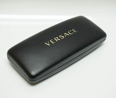 VERSACE Case Black Leatherette Hard Clamshell Eyeglasses ! Authentic ! RG9