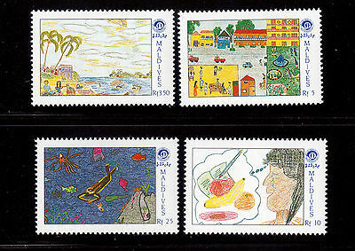 Maldive Islands 1991 Year Of The Child Set # 1519/22 Vf Nh !!