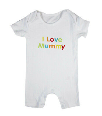 Baby Girl Boy Body Short sleeve Sleepsuit bodysuits white  I LOVE MUMMY 9/12 m